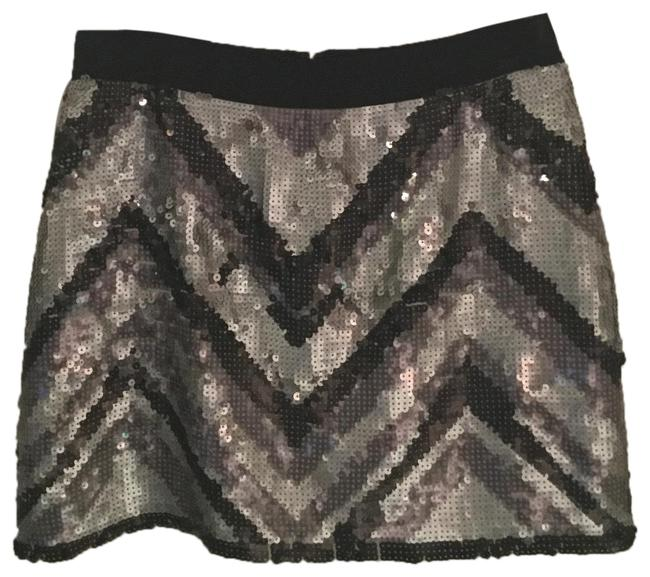 Item - Silver and Purple Sequined Skirt Size 2 (XS, 26)