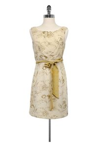 Moulinette Soeurs short dress Cream Gold Floral Print on Tradesy
