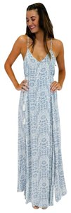 blue Maxi Dress by En Creme On High Tied Maxi