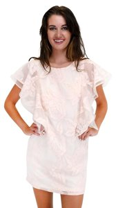 Ark & Co. short dress pink In A Blush Lace on Tradesy