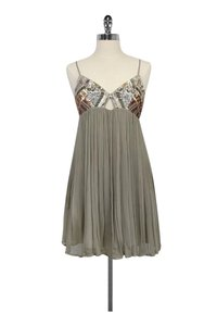 Chan Luu short dress Grey Beaded Flowy on Tradesy