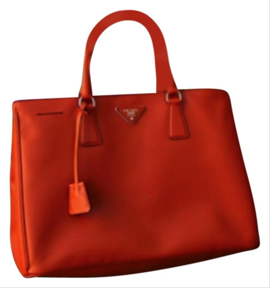 0d1b838cf3c7 Prada Lux Handbag Papaya/Orange Saffiano Leather Tote - Tradesy