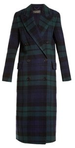 Burberry Blackwatch Tartan Double-faced Cashmere Wool Pea Coat