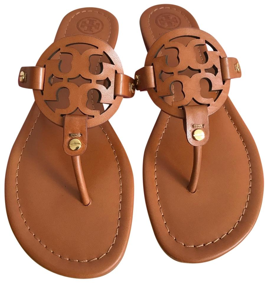 6315ba127 Tory Burch Brown Miller Veg Leather Sandals Size US 8 Regular (M