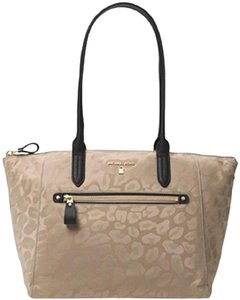 Michael Kors Travel Satchel Carryon Suitcase School Work Diaper Tablet Laptop Vegan Coach Mk Neverfull Tote in tan/truffle