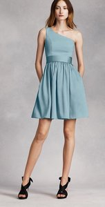 3041ed8ce1c7 White by Vera Wang Mist One Shoulder In Modern Bridesmaid/Mob Dress Size 0 (