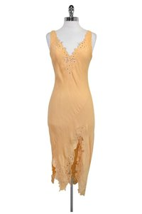 Catherine Malandrino short dress Orange Silk on Tradesy