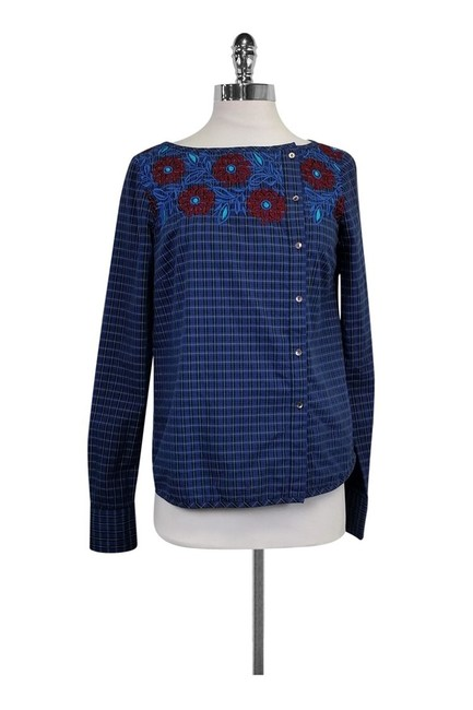 SUNO Blue Activewear Top Size 8 (M) SUNO Blue Activewear Top Size 8 (M) Image 1