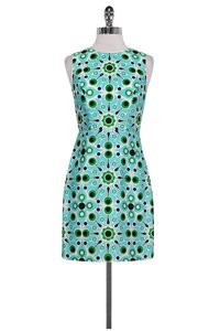 Kate Spade short dress Green Aqua Black Print on Tradesy