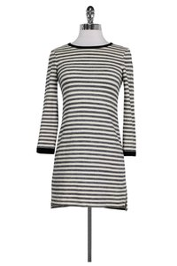 Gryphon short dress Blue Cream Striped Knit on Tradesy