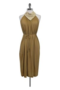 Tomas Maier short dress Beige Silk on Tradesy