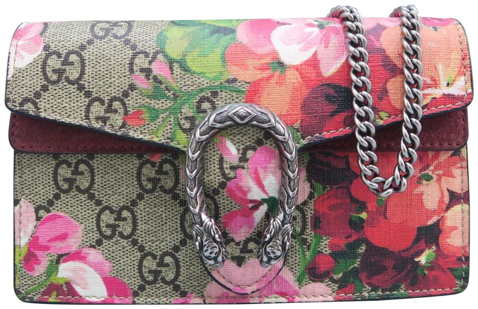 8bd630aa849 Gucci Dionysus Gg Blooms Super Mini Red and Multicolor Canvas ...