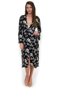 black Maxi Dress by Olivaceous The Blooms Maxi