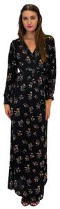 black Maxi Dress by Olivaceous Fawning Over Florals Maxi