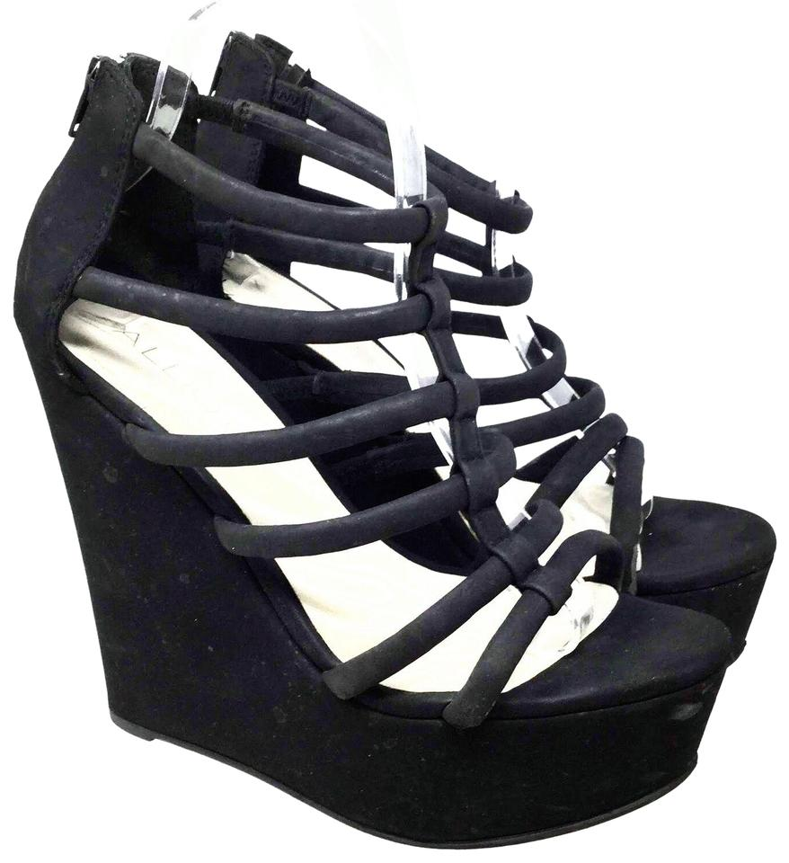 4f5ed2a417 ALDO Black Women's Strappy Platform Pumps Us/ 40 Eu Wedges Size US 9 ...
