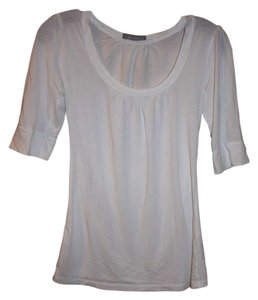 dELiA*s Scoop-neck Banded T Shirt White
