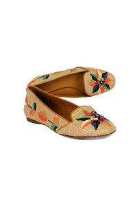 Tory Burch Multicolor Straw Loafers Pumps