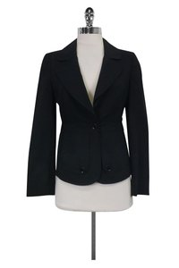 Burberry Fitted Black Blazer