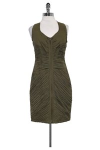 Catherine Malandrino short dress Green Olive Ruched on Tradesy