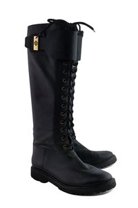 Tory Burch Tall Lace Up Black Boots