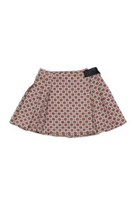 Sea NY Beige Red Wrap Skirt