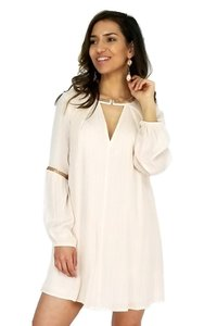 En Creme short dress cream Champagne Wishes Beaded on Tradesy