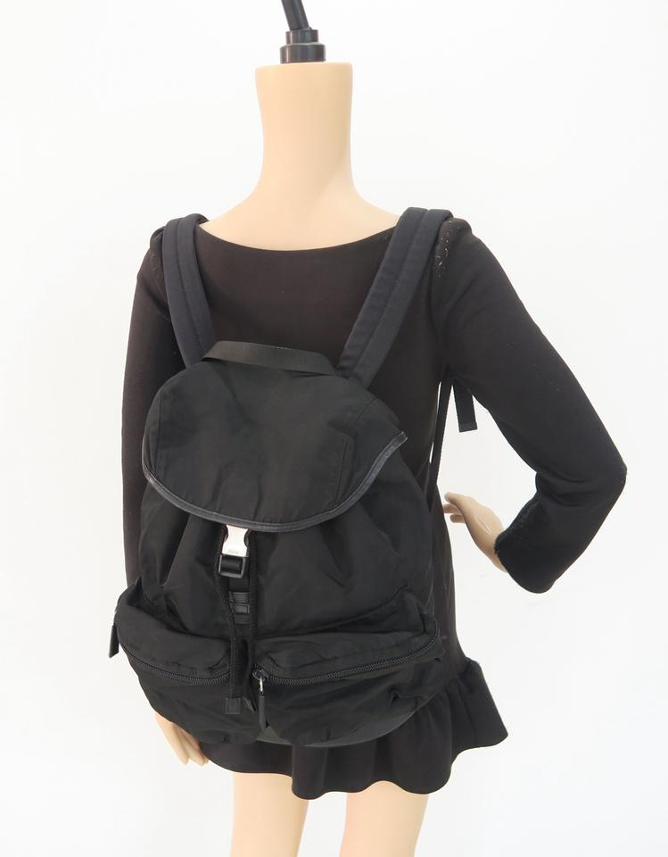 434210dd2012 Prada Leather-trimmed Black Nylon Backpack - Tradesy