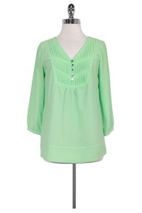 Shoshanna Mint Green Vneck Top