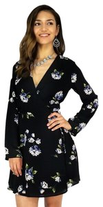 Lush Clothing short dress black Garden Wrap on Tradesy