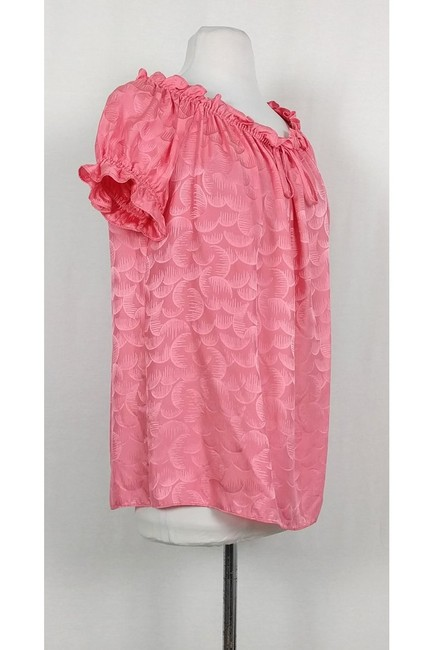 MILLY Watermelon Ruffle Top Pink Image 1