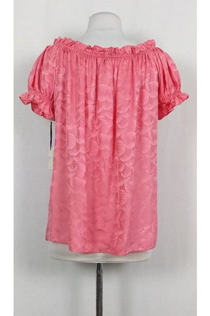 MILLY Watermelon Ruffle Top Pink Image 2