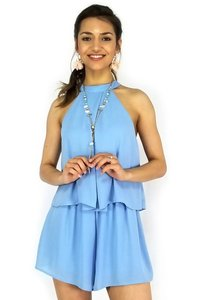 She + Sky High Neck Hurrah Halter Dress
