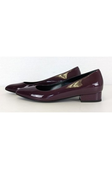 Lanvin Plum Patent Leather Purple Flats Image 2