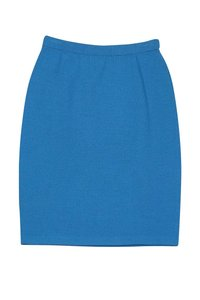 St. John Bright Knit Pencil Skirt Blue