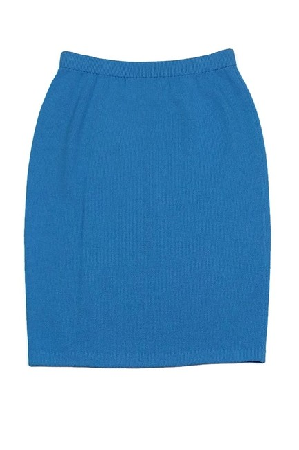 St. John Bright Knit Pencil Skirt Blue Image 1