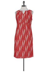 Anni Kuan short dress red Cream Textured on Tradesy