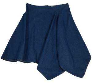 Stella McCartney Asymmetrical Denim Skirt Blue