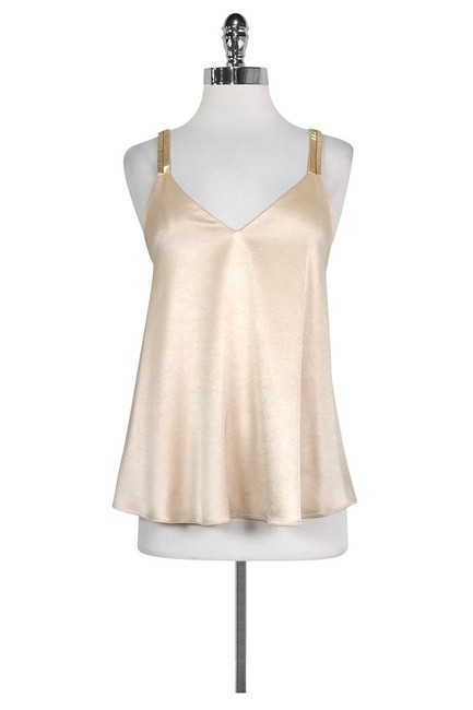 Derek Lam Blush Satin Beaded Top Image 0