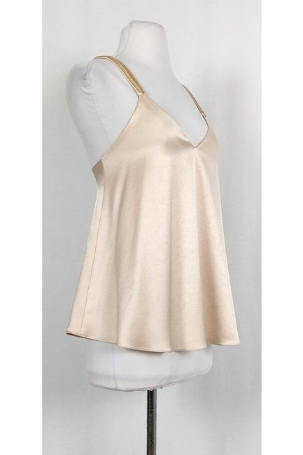 Derek Lam Blush Satin Beaded Top Image 1