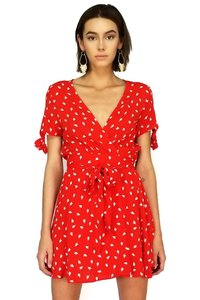 Olivaceous short dress red The Flower Of Love on Tradesy