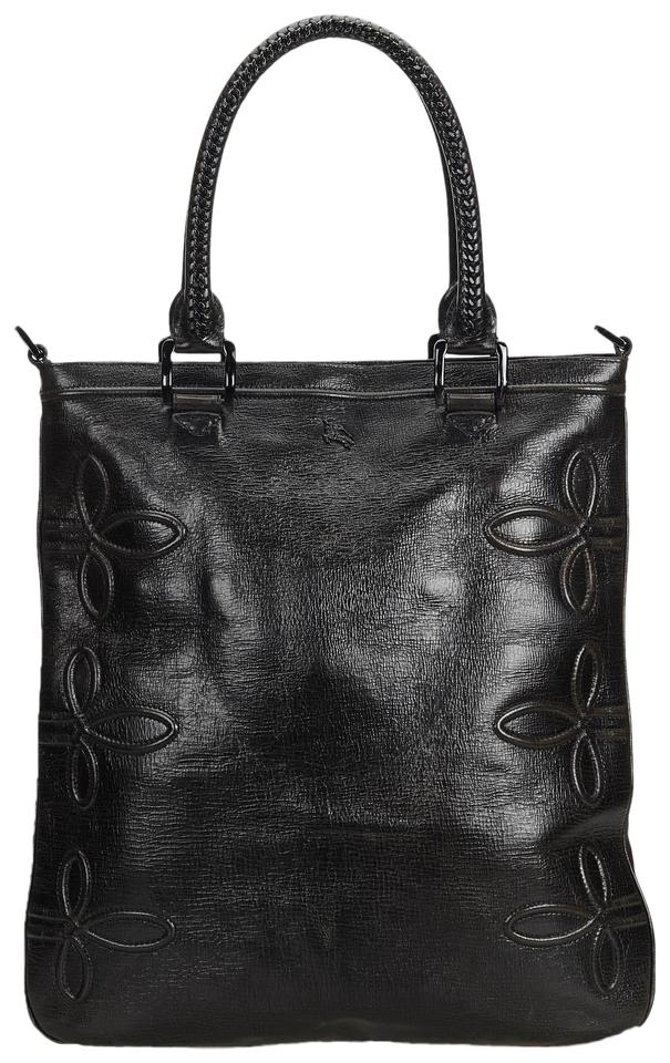 1c89f8db031 Burberry 9cbuto037 Vintage Leather Tote in Black Image 0 ...