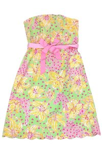 Lilly Pulitzer short dress Multicolor Print Strapless on Tradesy
