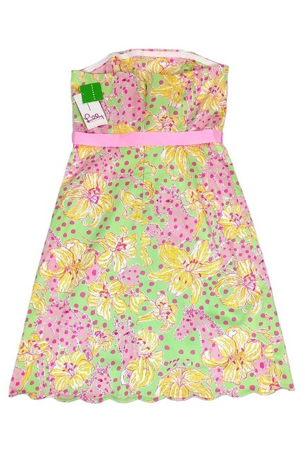 Lilly Pulitzer short dress Multicolor Print Strapless on Tradesy Image 1