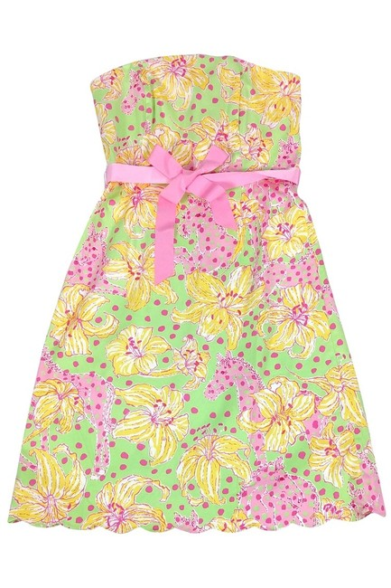 Lilly Pulitzer short dress Multicolor Print Strapless on Tradesy Image 2
