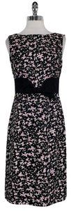 MILLY short dress Black Pink Printed on Tradesy
