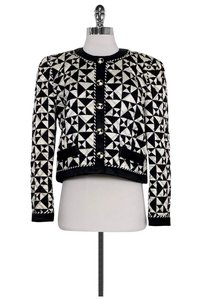 Escada Quilted And White black Jacket