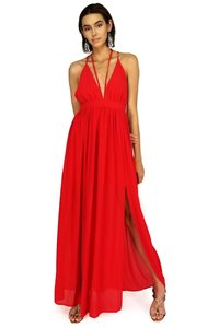 red Maxi Dress by She + Sky Strappy Days Maxi