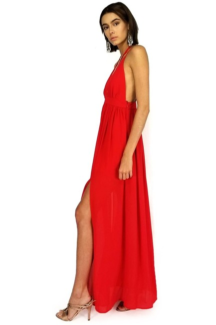 red Maxi Dress by She + Sky Strappy Days Maxi Image 1