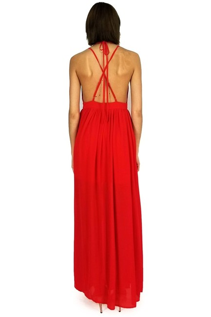 red Maxi Dress by She + Sky Strappy Days Maxi Image 2