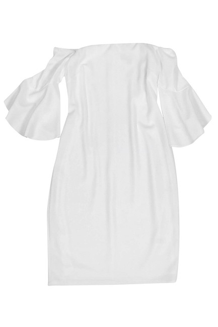 Laundry short dress White By Shelli Segal Offshoulder Bell Sleeve on Tradesy Image 2